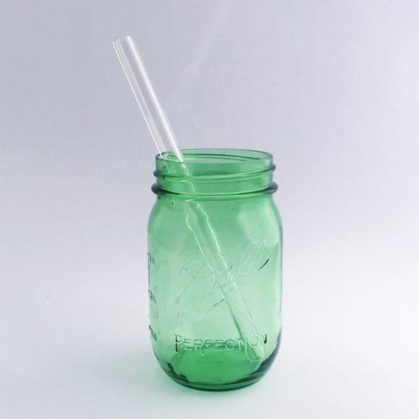 Clear Smoothie Glass Straw