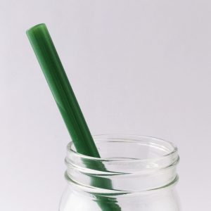 Jade Green Glass Straw