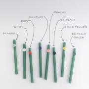 Jade Green Personalized Glass Straws