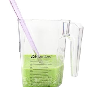 Amethyst Colored Glass Straw for Blender