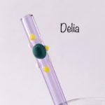 Delia Glass Drinking Straw