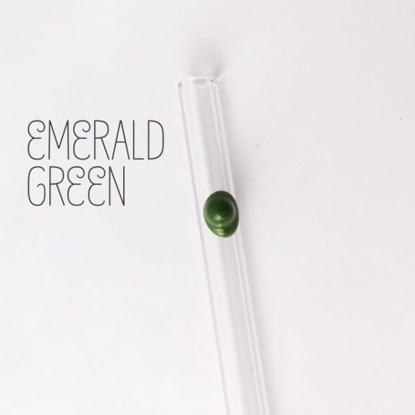 Emerald Green Skinny Glass Straw