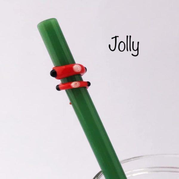 Jolly Glass Drinking Straw