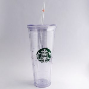 Starbucks Venti Peachy Glass Straw
