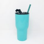 30oz RTIC Teal Insulated Tumbler with Glass Straw
