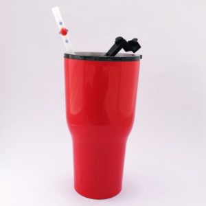 RTIC Insulated Tumbler with Strawesome Glass Straw